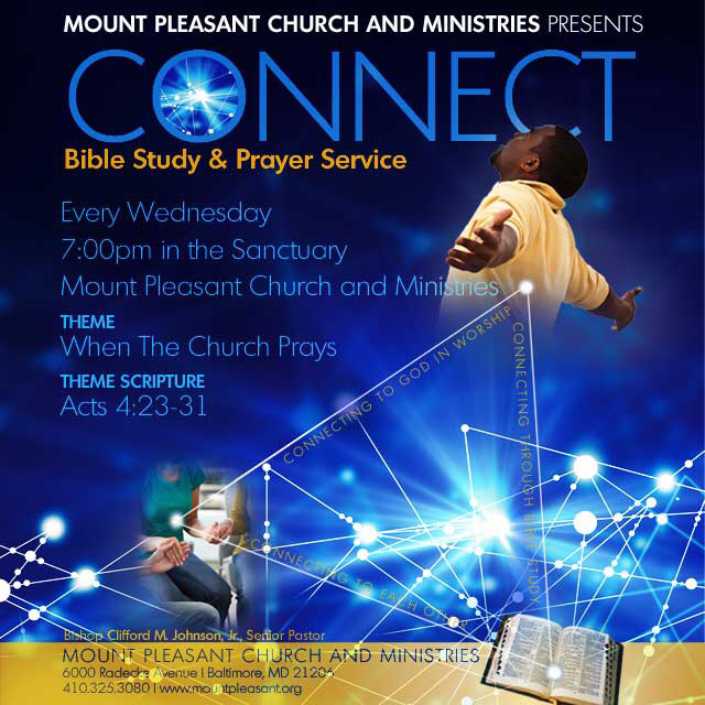 CONNECT Bible Study and Prayer Service @ Mount Pleasant Church and MInistries